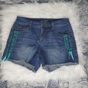 Cat & Jack Girls' Denim Shorts XL